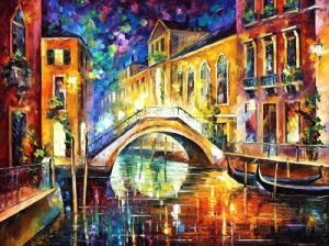 NIGHT IN VENICE leonid afremov