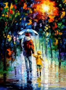 RAINY WALK WITH DADDY